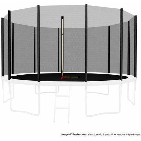 Filet de sécurité extérieur Universel pour trampoline 13FT ø400cm 12perches avec bouchons hauts de perches