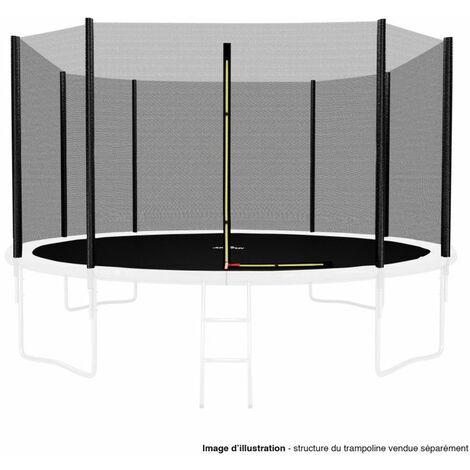 Filet de sécurité extérieur Universel pour trampoline 13FT ø400cm 8perches avec bouchons hauts de perches