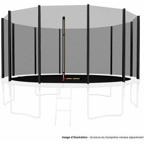 Filet de sécurité extérieur Universel pour trampoline 14FT ø427cm 12perches avec bouchons hauts de perches