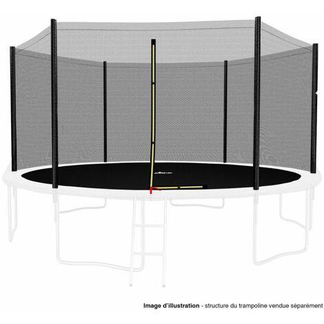 Filet de sécurité extérieur Universel pour trampoline 14FT ø427cm 6perches avec bouchons hauts de perches