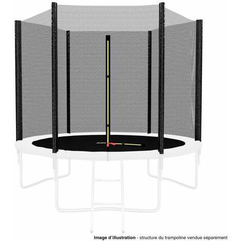 Filet de sécurité extérieur Universel pour trampoline 8FT ø244cm 6perches avec bouchons hauts de perches