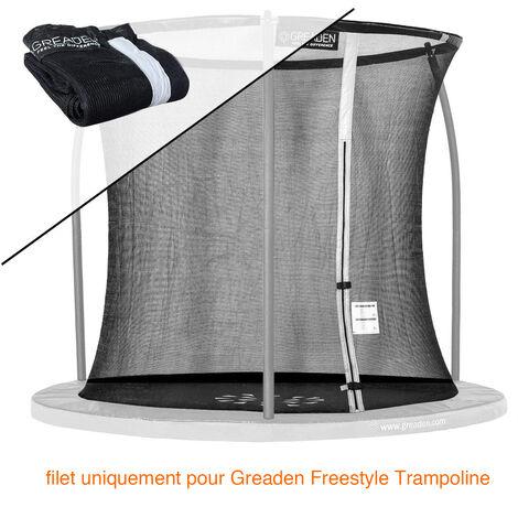 Filet de sécurité [PAS Trampoline entier] et Protection 180cm Haute qualité SEULEMENT Pour Trampolines GREADEN Ø 244cm