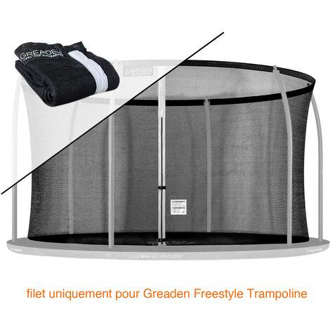 Filet de sécurité [PAS Trampoline entier] et Protection 180cm Haute qualité SEULEMENT Pour Trampolines GREADEN Ø 366cm
