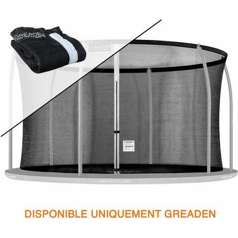 Filet de sécurité [PAS Trampoline entier] et Protection 180cm Haute qualité SEULEMENT Pour Trampolines GREADEN Ø 427cm