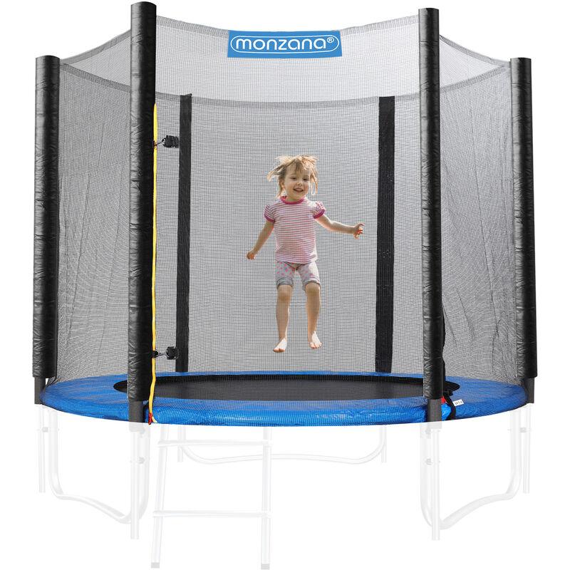 Filet de sécurité pour trampoline Résistant Entrée fermable Dimension au choix 244 - 250 cm / 6 Stangen (de)