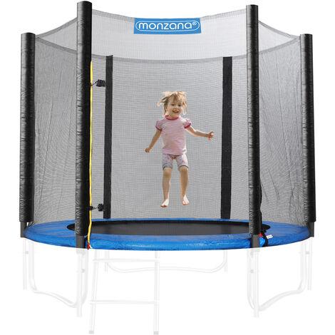 Filet de sécurité pour trampoline - Réseau dense entrée fermable - Ø 244 - 430cm