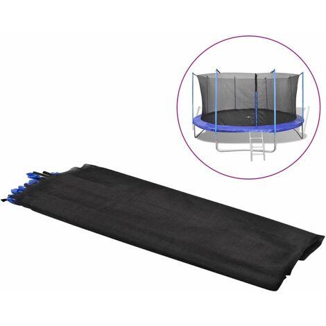 Filet de sécurité pour trampoline rond 3,96 m PE Noir