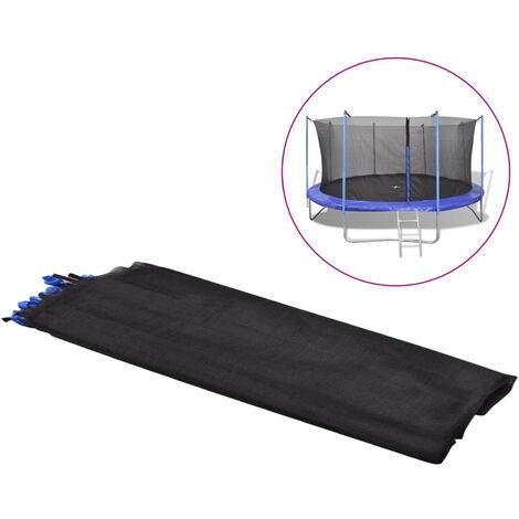 Filet de securite pour trampoline rond 4,57 m PE Noir