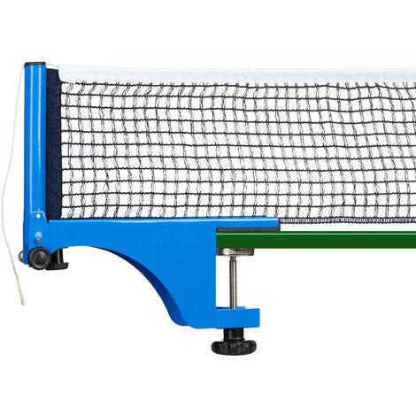 Filet de table de tennis en métal 19,2 x 23,5 cm bleu