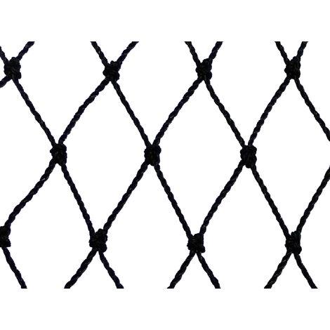 Filet de volière - Maille de 50mm Noir 14 x 10m - Noir
