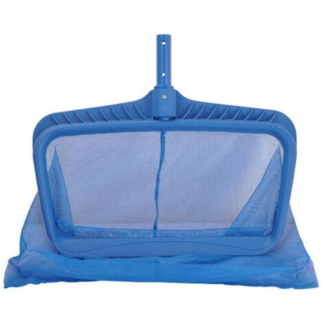 Filet d'ecumoire de feuilles rateau a feuilles en plastique profond avec sac outil de nettoyage de capteur de filet a mailles fines pour fontaine d'etang de bain a remous de piscine,modele:Bleu
