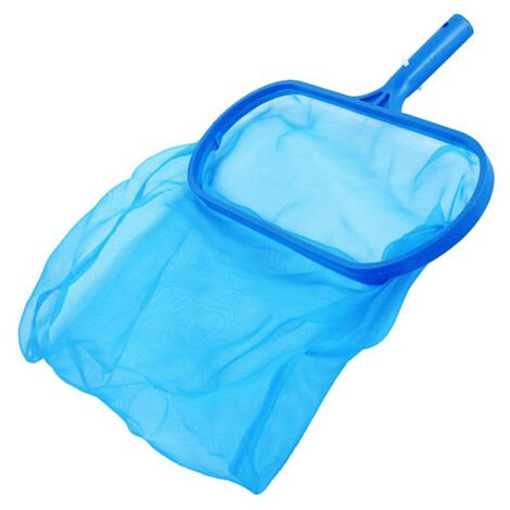 Filet d'ecumoire pour rateau de piscine, sac profond resistant, s'adapte a la plupart des poteaux standard pour le nettoyage des piscines, des bains a remous, des spas et des fontaines,modele:Bleu