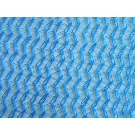 Filet échafaudage 100g/m² triangulaire serrée et extensible Bleu 3m x 20m