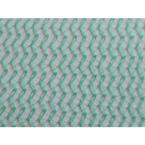 Filet échafaudage 100g/m² triangulaire serrée et extensible Vert 3m x 50m - Vert