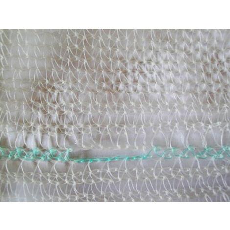 Filet échafaudage 72g/m² - Triangulaire - Chantier de moyenne durée Blanc 2.57m x 50m - Blanc