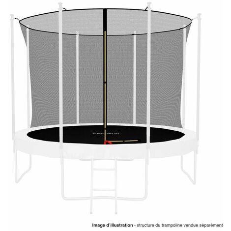 Filet intérieur de protection Universel pour trampoline 10FT ø305cm 8perches - avec bouchons hauts de perches et ficelle