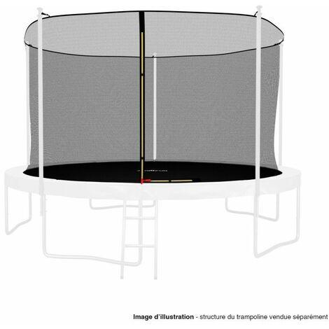Filet intérieur de protection Universel pour trampoline 12FT ø366cm 5perches - avec bouchons hauts de perches et ficelle