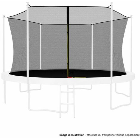 Filet intérieur de protection Universel pour trampoline 13FT ø400cm 10perches - avec bouchons hauts de perches et ficelle