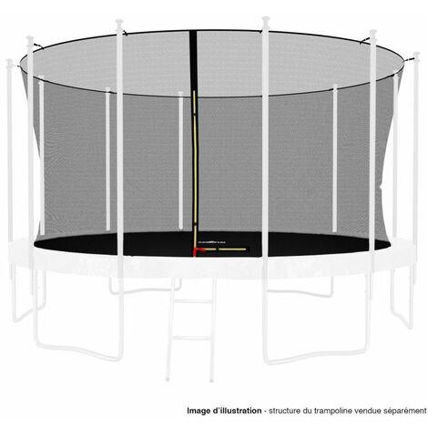 Filet intérieur de protection Universel pour trampoline 13FT ø400cm 12perches - avec bouchons hauts de perches et ficelle