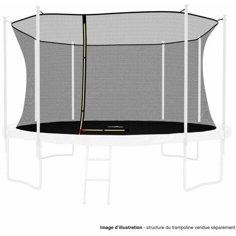 Filet intérieur de protection Universel pour trampoline 13FT ø400cm 8perches - avec bouchons hauts de perches et ficelle