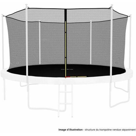 Filet intérieur de protection Universel pour trampoline 14FT ø427cm 10perches - avec bouchons hauts de perches et ficelle