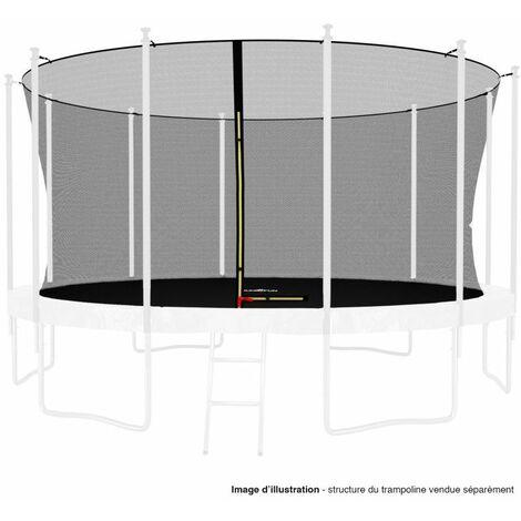 Filet intérieur de protection Universel pour trampoline 14FT ø427cm 12perches - avec bouchons hauts de perches et ficelle