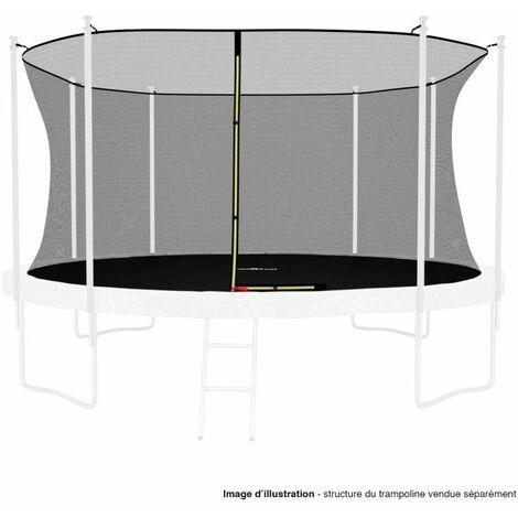 Filet intérieur de protection Universel pour trampoline 14FT ø427cm 8perches - avec bouchons hauts de perches et ficelle