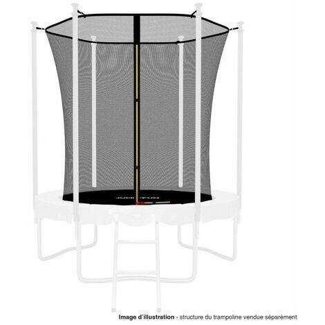 Filet intérieur de protection Universel pour trampoline 6FT ø185cm 6perches - avec bouchons hauts de perches et ficelle
