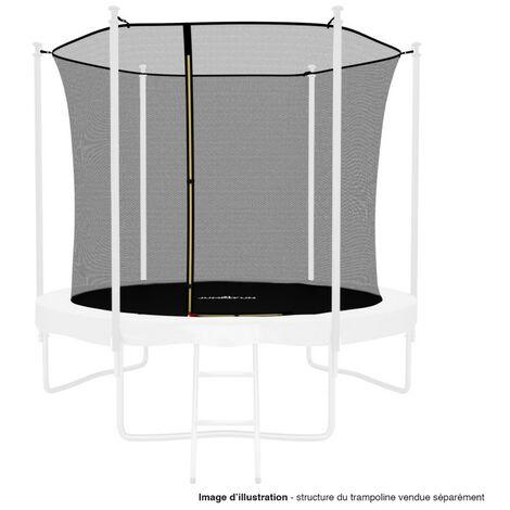 Filet intérieur de protection Universel pour trampoline 8FT ø244cm 6perches - avec bouchons hauts de perches et ficelle
