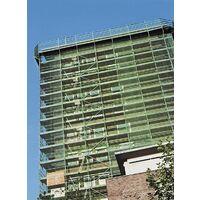 Filet latéral de protection vert largeur de treillis 100mm, 2x10m, mousqueton ceinture