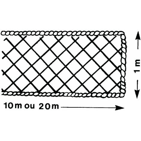 FILET PÉRIPHÉRIQUE ALTRAD 1 M X 10 M AVEC RALINGUE Ø 8 MM - P6227 - -