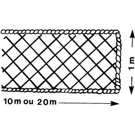 FILET PÉRIPHÉRIQUE ALTRAD 1 M X 20 M AVEC RALINGUE Ø 8 MM - P6225 - -