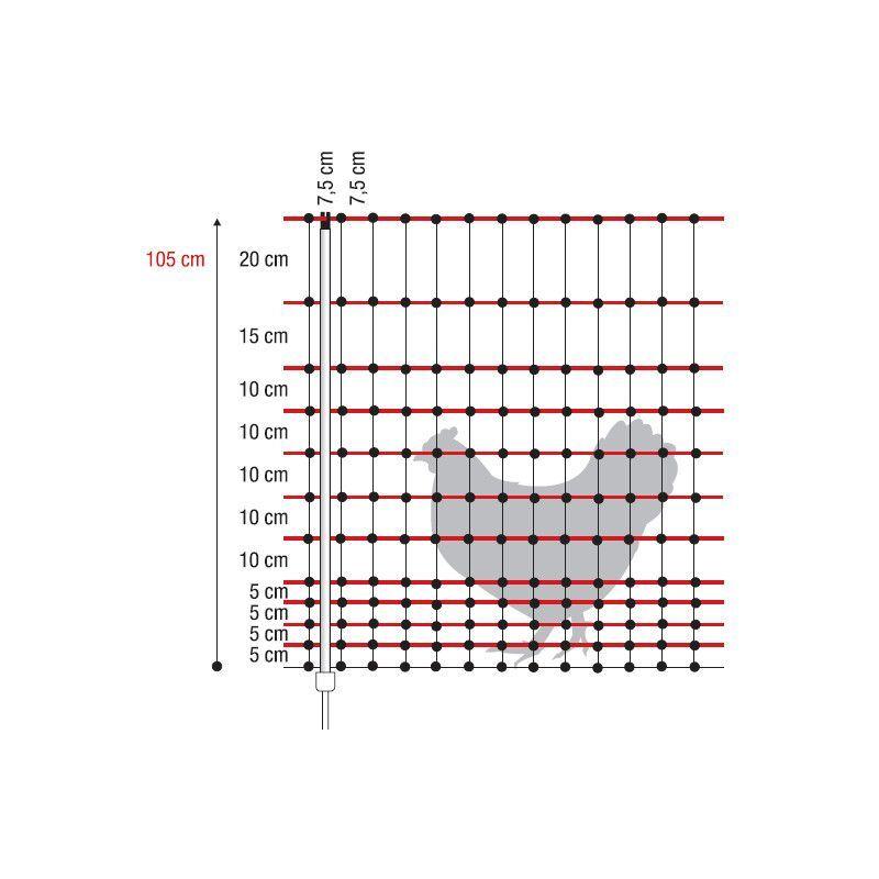 Filet Volaille Électrifiable 50 M, H 105 Cm Horizont Origine