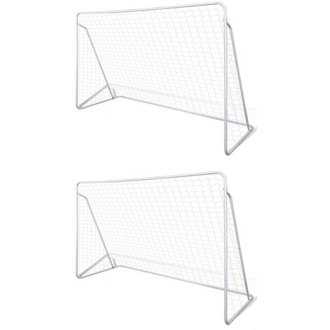 Filets de but de football Acier 2 pcs 240x90x150 cm