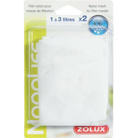 Filets nylon pour masse filtrante 1 à 3 litres. pour aquarium. x2