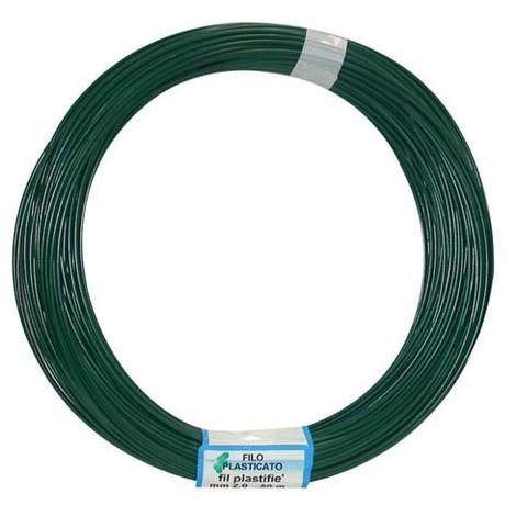 FILGRAF - Fil attache plastifié vert - 50 m - D: 2 mm