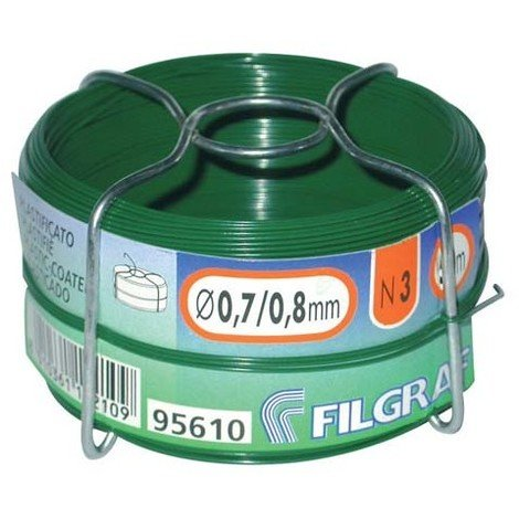 "main image of ""FILGRAF - Fil attache - plastifié vert - bobine 50 m"""
