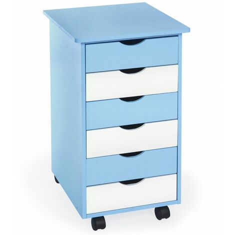 Filing cabinet on wheels with 6 drawers - small filing cabinet, home filing cabinet, drawer filing cabinet