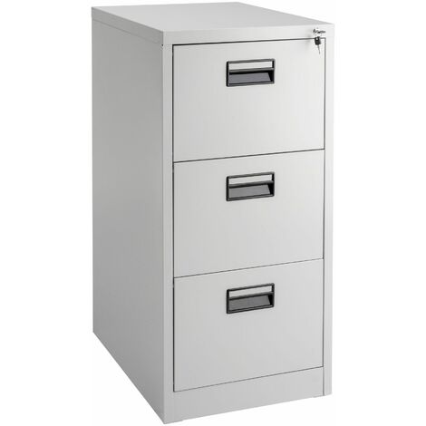 Filing Cabinet with 3 Shelves - metal filing cabinet, home filing cabinet, filing cupboard