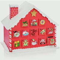 Fill Your Own Wooden Christmas Advent House Countdown Calender - 32cm