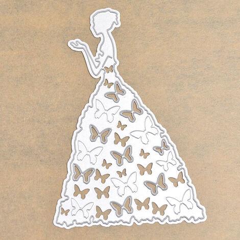 Fille lettres coeur métal découpe matrices pochoir Scrapbooking carte de voeux Album Photo peinture décor gaufrage bricolage outil d'enseignement