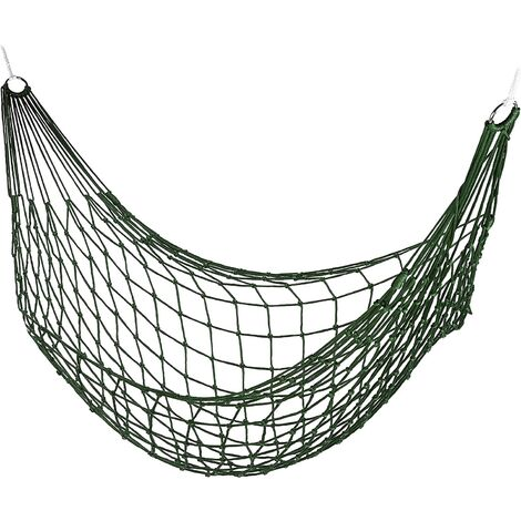 """main image of """"Fillet hammock, garden for a person, camping, light for indoor and outdoor, dark green"""""""