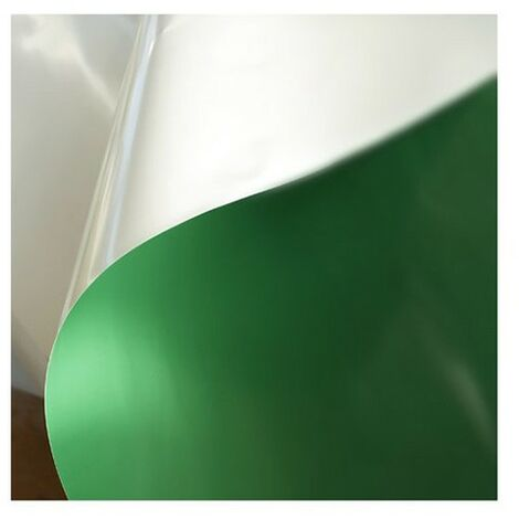Bâche 250 microns verte blanche opaque, Long 40 m, Larg 13.50 m