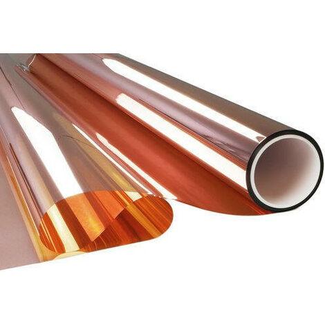 Film adhésif miroir cuivre pose extérieure