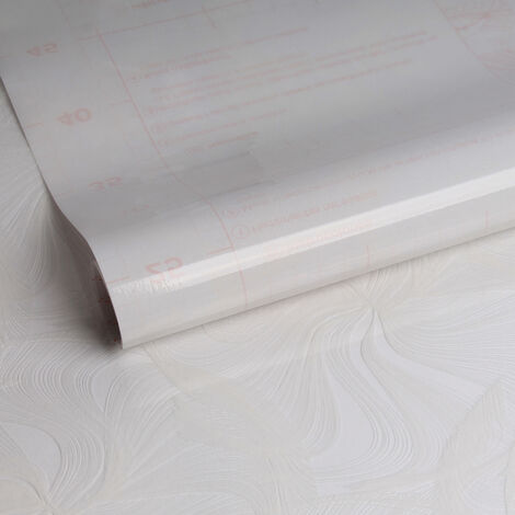 Film auto-adhésif pour vitre Tara opaque blanc 200 x 67,5 cm volutes