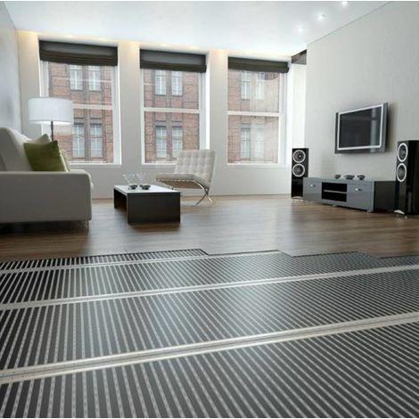 Film chauffant plancher flottant longueur 1,5 m 130 W/m² largeur 1 m