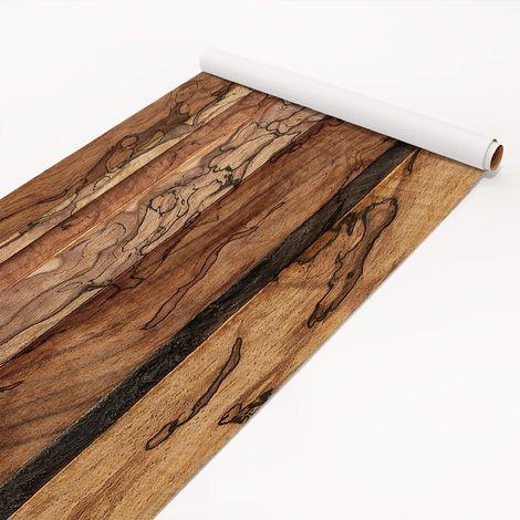 Film collant flammé mur en bois - Dimension: 50cm x 50cm