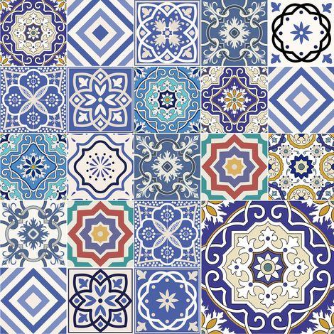 Film collant - Mirror tiles - Ornate Portuguese tiles