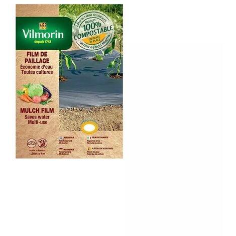 Film de paillage toutes cultures faible épaisseur - farine de céréales - 1,30m x 8m 18µm