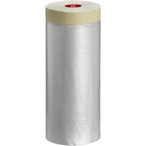 Film de protection avec ruban adhésif 180cm x 33m